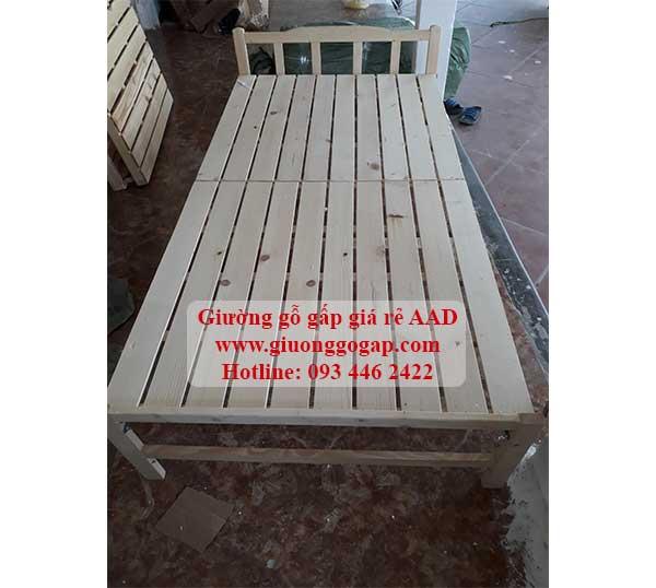giường giá rẻ bằng gỗ gấp