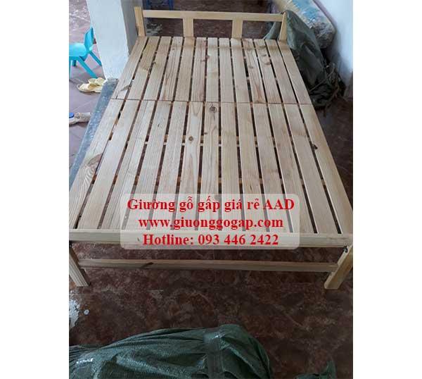 giường gỗ thông gấp gọn