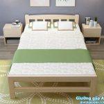 Bán giường gỗ gấp giá rẻ ở Hà Nội – Giường gấp đôi GA2018