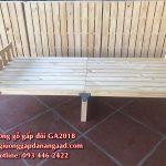 Giường gỗ gấp 80cmx1m9