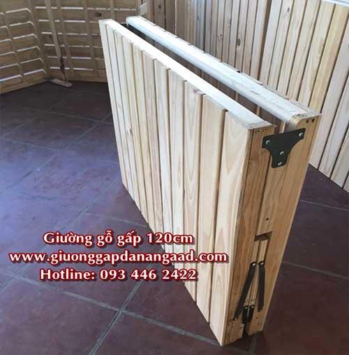 giường ngủ gỗ thông gấp đôi
